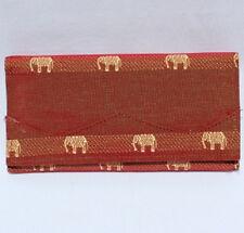 Thai Silk Ladies Wallet Elephant Design Brand New! Many Colours