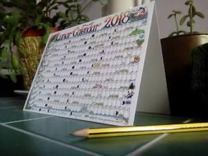 2022 PREORDER Lunar Moon Desk Calendar Card Pagan Wicca chart planner A5