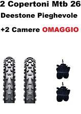 2 Copertoni MTB 26 Per Bici Bicicletta Mountain Bike 26x2.10 Deestone Gomme