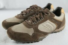 NEW Geox RESPIRA C6004 Men's US Size 8 Chestnut Brown Suede Athletic Shoes ANB