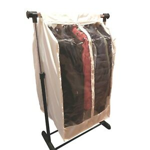 """Full Garment Rack Closet Rod Cover 24""""W x 22""""D x 42""""H in Off White (Cover Only)"""