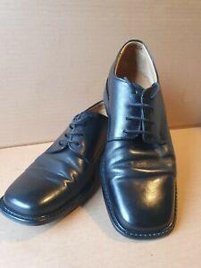 Borelli leather shoes mens size 8 EU 41 - Round toe lace up Leather