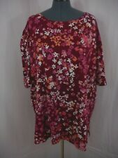Woman Within Casual Multi-Color Round Neck Short Sleeve Tunic Top Size 3X 30/32