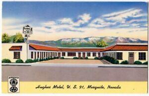 060613 Hughes Motel US 91 Highway Mesquite NV Vintage Roadside Postcard