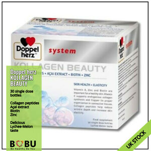 DOPPELHERZ System KOLLAGEN Beauty 30 amp x 25 ml Collagen Peptide Liquid
