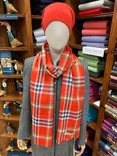 100% Pure New Wool Pashmina | Lochcarron | Made in Scotland | Murroes Crimson