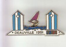 RARE PINS PIN'S .. TV RADIO CINEMA WINDSURF TF1 DEAUVILLE 1991 ARTHUS B. ~DI