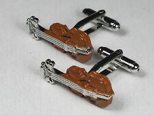 Men's Unique Violin instrument Suit Cufflinks