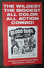 WAKE UP AND DIE/KILL OR BE KILLED orig pressbook ROBERT HOFFMAN/GORDON MITCHELL