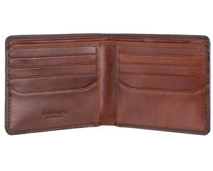 Visconti Atelier Burnished Tan RFID Medium Bifold 8 Card Leather Wallet AT58
