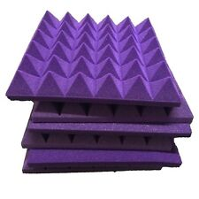 New Pyramid Acoustic Foam in Purple soundproof For Practice Music Room Studio 6P