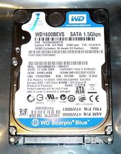 "Western Digital Scorpio Blue 160GB Laptop Hard Drive, 5400RPM, 2.5"", WD1600BEVS"
