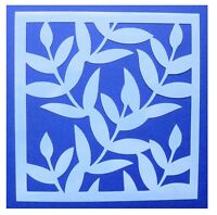 Flexible Stencil *LEAF BACKGROUND* Small or Medium Leaves Card Making Crafts