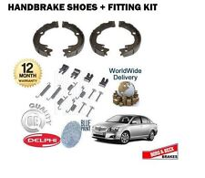 FOR TOYOTA AVENSIS 2003-2009 NEW REAR HAND BRAKE SHOE SET + FITTING KIT