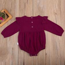 Mode Baby Mädchen Kleidung warm OUTFIT FREIZEIT langärmlig Strampler Overall