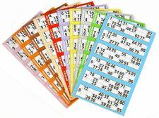150 Bingo Tickets, 25 Strips of 6, Flyer Sheet Singles 1 Game Page Jumbo Numbers