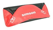 Simson Housse pour Banquette S51 S50 S70 Schwalbe KR51 Structure Rouge Structuré