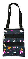 Jenzys Girls Teens Galaxy Mini Crossbody Handbag Purse Bag Space Theme
