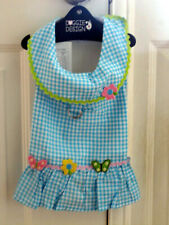 Darling Gingham Spring Dog Harness Dress with Matching Leash