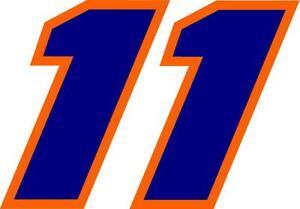 NEW FOR 2021 #11 Denny Hamlin Racing Sticker Decal - SM thru XL various colors