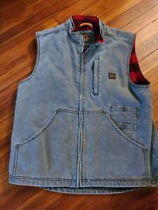 Walls Men's Pecos Vintage Duck Vest Graphite size Large