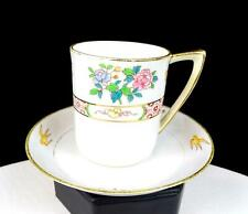 "NIPPON MORIMURA JAPAN ANTIQUE GOLD SWALLOWS 2 5/8"" CHOCOLATE CUP & SAUCER 1911"