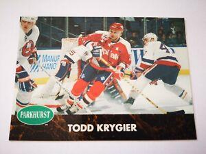 Parkhurst carte card 1992 hockey NHL NM+/M Washington Capitals #408 Todd Krygier