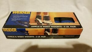 Weider Ankle & Wrist Weights 2 LB Pair in box top quality Nylon