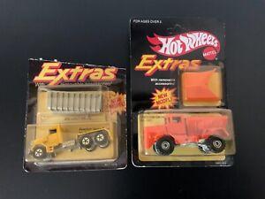 Hot Wheels Extras Vintage Peterbilt Dump Truck & Oshkosh Snow Plow Lot of 2