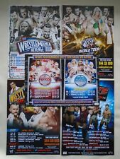 WWE Raw/Smackdown Wrestle Mania/Revenge UK Tours 2011/12/13/14 promo flyers x 5