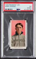 1909 T206 Jerry Downs Minneapolis Piedmont Cigarettes Baseball Card 350 PSA EX 5