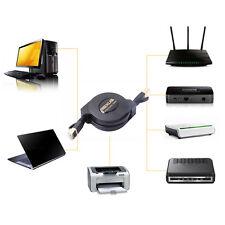 1.5M 5FT Retractable Cat 7 10 Gigabit RJ45 LAN Ethernet Network Cable Cord