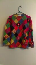 Patchwork Argyle Sweater