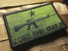 Come and Take It Tactical Patch - Olive Drab - New - Hook-loop back