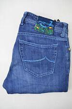 JACOB COHEN Herren Jeans  Mod.J688 Gerades Bein Blau Baumwolle Handmade Gr.34