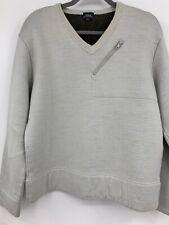 G Star Mens Pullover sweater sweatshirt shirt large tan Moto Holder sweat READ