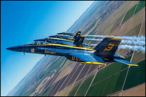 USN Blue Angels F/A-18 Super Hornets NAF El Centro 2021 8x12 Photos