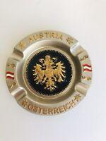 Austria Österreich Ashtray With Coat Of Arms Pristine Condition