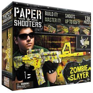 MFH PAPER SHOOTERS Bausatz Tactician Zombie Slayer Gewehr Papierkugeln