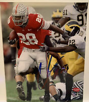 Chris Beanie Wells Hand Signed Autograph 8x10 Photo Ohio State OSU with COA