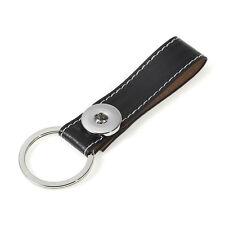 Botón a presión negro PU Llavero Cinturón Fitting-Silvar Design