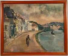 Listed Belgian Artist Willem Paerels (1878-1962) Signed Oil Painting On Canvas