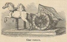 C8988 Carro romano - Xilografia d'epoca - 1892 Vintage engraving