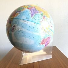 "Vintage Retro Globemaster 12""  World Raised Globe Acrylic Base Made in USA"