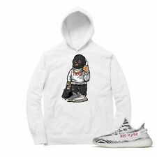 Shirt to Match Yeezy Boost Zebra 350 V2 Santa Trap Bear White Hoodie Unisex NEW