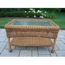 Oakland Living Resin Wicker Coffee Table 90027-CT-NT Table NEW