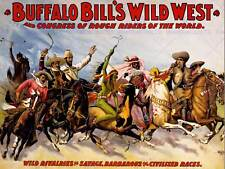 ADVERT CULTURAL EXHIBITION BUFFALO BILL WILD WEST SHOW ART PRINT POSTERABB5817B