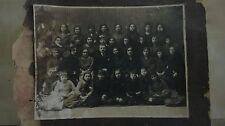 """OLD WW2 BIG 9"""" REAL PHOTO JEWISH GIRLS SCHOOL CLASS & TEACHER"""