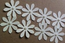 50 Ivory Daisy Flower Pearl Centre Embellishments Toppers Card Making Scrapbook