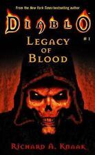 Diablo: Legacy of Blood by Richard A. Knaak (2001, Paperback, Pocket Books)